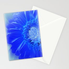 electric blue gerbera Stationery Cards