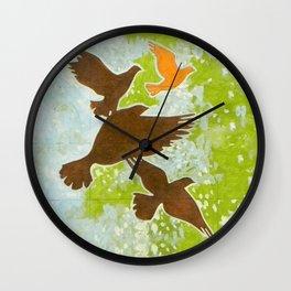Pigeons Wall Clock