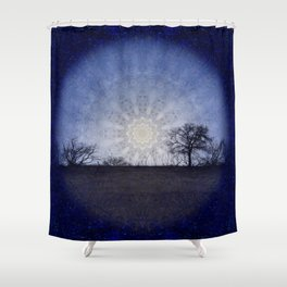 Celestial Clockwork Shower Curtain