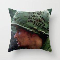 Charlie Sheen #2 @ Platoon Throw Pillow