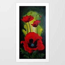Poppy flowers Art Print