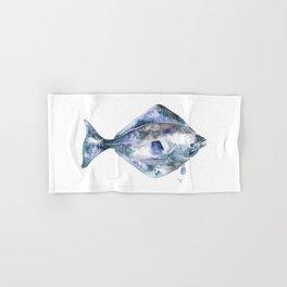 Flat Fish Watercolor Hand & Bath Towel