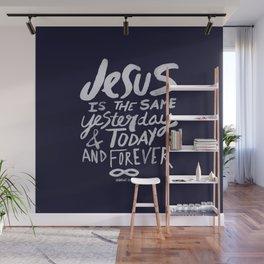 Hebrews 13: 8 x Navy Wall Mural