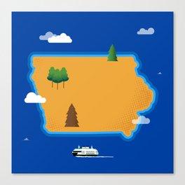 Iowa Island Canvas Print