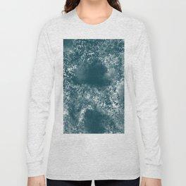 Teal Abstract Long Sleeve T-shirt
