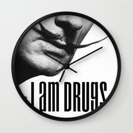 salvador dali i am drugs Wall Clock