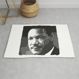 Martin Luther King Portrait Rug