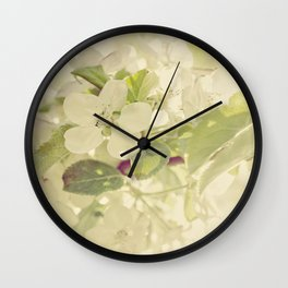 Vintage Apple Blossoms Wall Clock
