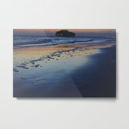 Boat in Distance- #beach #landscape #photography Metal Print