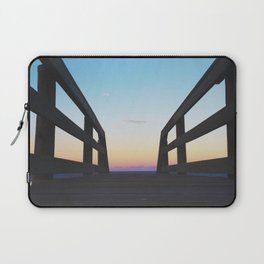 Crescent Beach Sunset Laptop Sleeve