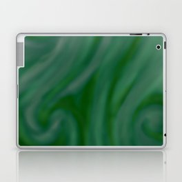 Green SWIRL Laptop & iPad Skin