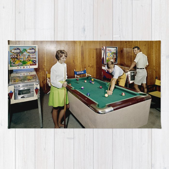1960 S Game Room With Pinball And A Pool Table In The Admiral Motel