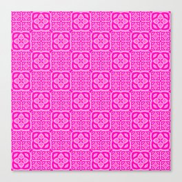 Hot Pink Moroccan Tile Bliss Canvas Print