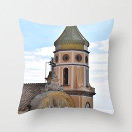 campanili della costiera amalfitana Throw Pillow
