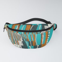 Teal and rustic brown abstract Fanny Pack