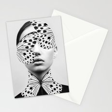 Woman Butterfly Stationery Cards