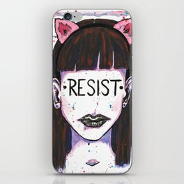 "Words Within: ""Resist"" iPhone Skin"