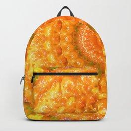 Orange Habanero Hot Peppers Mandala Fractal Design Backpack