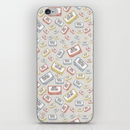 Primary Mixtapes on Neutral Grey iPhone Skin