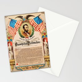 1863 Emancipation Proclamation by President Abraham Lincoln Stationery Cards