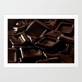 Mouth-melting Chocolate Art Print