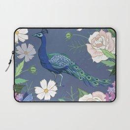 Peacock in a Botanical Garden Laptop Sleeve