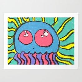 Gouache Radical Jellyfish Art Print