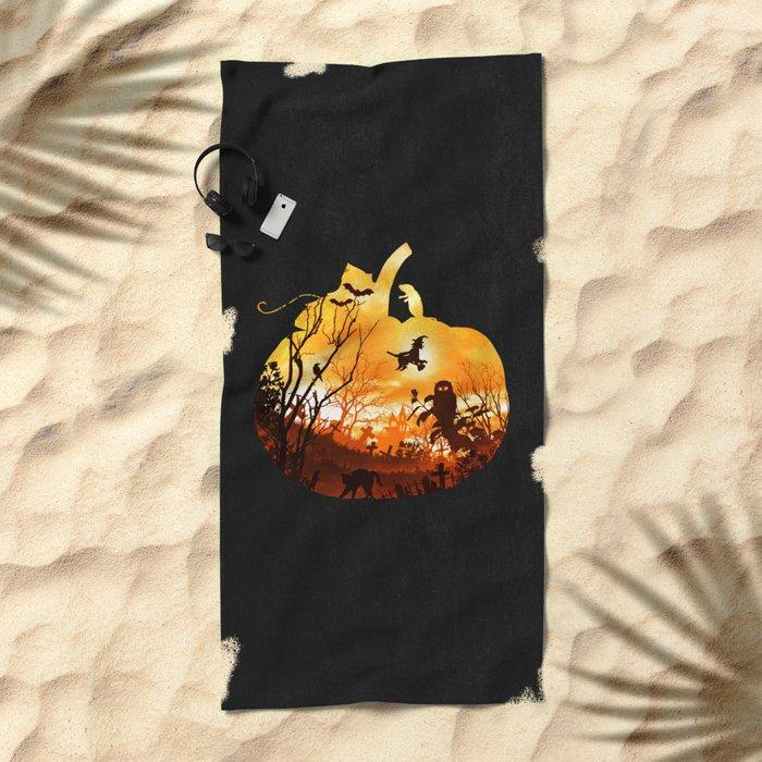 All Hallows Eve Beach Towel