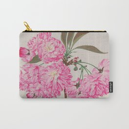 Barrier Mountain Cherry Blossoms Watercolor Carry-All Pouch