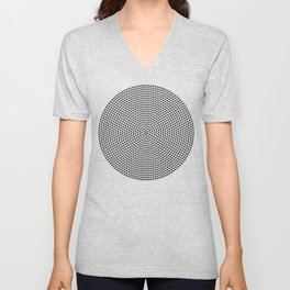Concentric Dots Unisex V-Neck