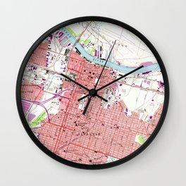 Vintage Map of Savannah Georgia (1955) 2 Wall Clock