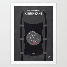 No605 My Citizen Kane minimal movie poster Art Print