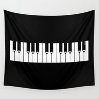 piano Wall Tapestries featuring Piano by Beitebe