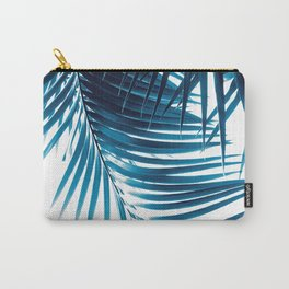 Palm Leaves Blue Vibes #1 #tropical #decor #art #society6 Carry-All Pouch