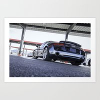 audi Art Prints featuring Audi R8 by Tom England