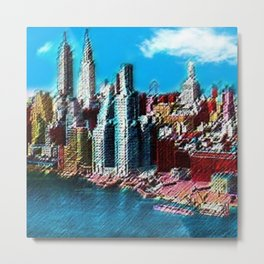 Midtown Manhattan New York City Skyline Portrait - Jéanpaul Ferro Metal Print