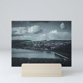 Cityscape Möhne From Reservoir Barrage Wall dark Mini Art Print