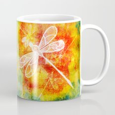 Dragonfly in embroidered beauty Mug