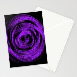 Purple Loop Illusion Stationery Cards