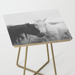 Horse Pair Side Table