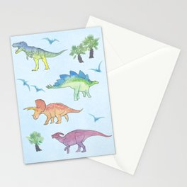 DINOSAURS!, painting by Frank-Joseph Stationery Cards