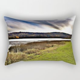 Autumn Lake Day Photography Rectangular Pillow