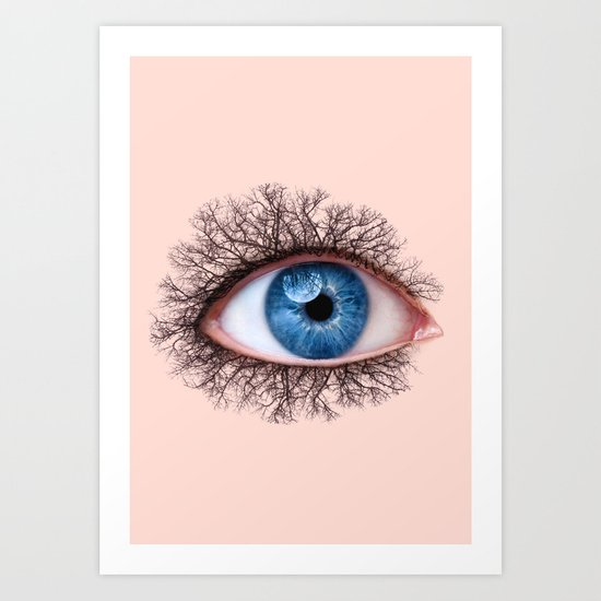 EYE TREE Art Print