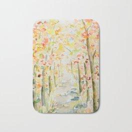 Watercolor Autumn Woodland Bath Mat