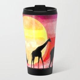 Elephant Giraffe Rhinoceros Travel Mug