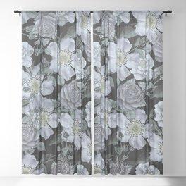 Roses at Night Sheer Curtain