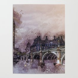 London Painting Poster
