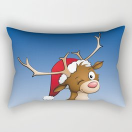 reindeer winking Rectangular Pillow