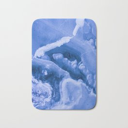 Blue Icy Granite Marble (Color) Bath Mat