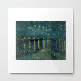 The starry night over the Rhône, 1888, Vincent van Gogh, Musée d'Orsay, Paris. Metal Print